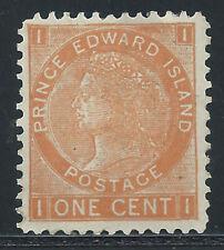 P.E.I. #11(3)1872 1 cent brown orange QUEEN VICTORIA Perf 12 x 11.5 MH CV$10.00