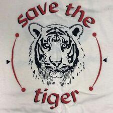 Vtg 80-90's Wwf World Wildlife Fund Panda Men Beige Save the Tiger T-Shirt Xl