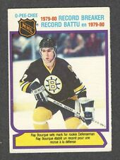 1980-81 RAY BOURQUE RB #2 OPC Key HALL OF FAME Star NHL Rookie Year Hockey Card