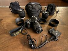 Nikon D40 DSLR Camera Body W/ 3 Lenses And Accessories - FREE SHIPPING!