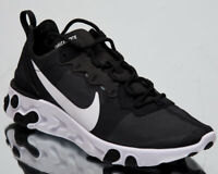Nike React Element 55 Men's New Black White Casual Lifestyle Sneakers BQ6166-003