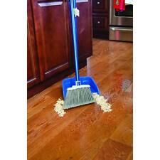 Broom Dustpan Set Cleaning Brush w/ Long Steel Handle Kitchen Store Lobby Floor