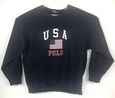 Vintage Mens Ralph Lauren Size 3XL Sweatshirt Flag USA POLO Crewneck