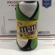 M&Ms World Lap Blanket Fleece Polyester Characters 50x60 Blanket