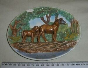 Fowey Cornwall Hand painted Wall Plaque Pill Pixie Craft.  Chipped