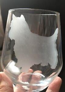 Personalised Wine Glass - Westie Standing -