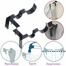 Curtain Rod Bracket Double Center Support Tap Right Into Window Frame 1 Pair