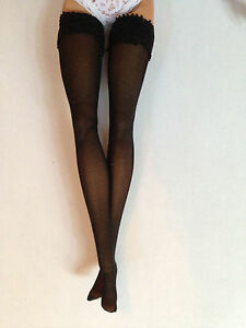 "Black stockings hose nylons for 12"" Fashion Royalty, Barbie, similar"