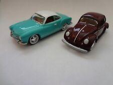 Johnny Lightning 1966 VW Karmann Ghia & 1950 VW Split Windw Beetle  - Loose 1:64
