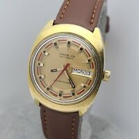 Vintage Lucien Piccard Circa 101 Men's automatic watch FHF909 day/date swiss 70s