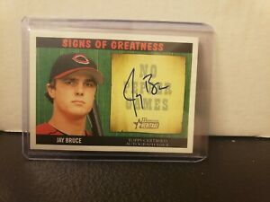 2005 Bowman Heritage Jay Bruce Signs of Greatness Autograph Reds Rookie