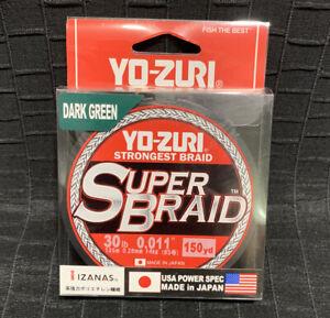 YO-ZURI SUPERBRAID Dark Green Fishing Line 30lb  150yd R1259-DG Super Braid