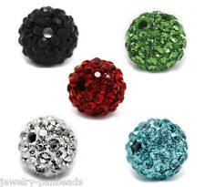 F1 5 Mix Strass Kugel Strassperlen Ball Perlen Beads Spacer 8mm