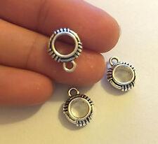 10 Tibetan silver bail hanger tibet pendant charm bracelet wholesale UK IR12