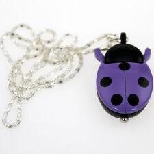 Colorful Ladybug Pendant Necklace Quartz Watch Party Gift Fashion Watches GL02