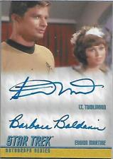 Star Trek The Remastered Original Series Dual Autograph Card DA9 Limited