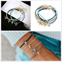 Unisex Leather Rope Anklet Ankle Bracelet Barefoot Sandal Beach Foot Chain MP