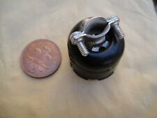 Hard To Find NOS Vintage Metal Octal Plug / Socket Cover & Cable Clamp