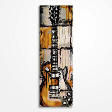 Original acrylic guitar painting on canvas Les Paul, music art - MADE TO ORDER
