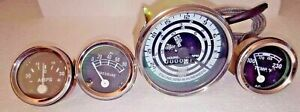 Ford Tractor Temp Amp Oil Tach Gauge Set for Mod 600 700 800 900 1800 2000 4000