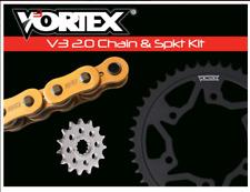 SUZUKI 2006-2010 GSXR600 VORTEX 520 CHAIN & STEEL SPROCKET KIT 15-45 TOOTH GOLD