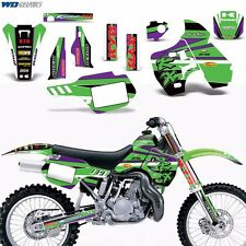 Graphic Kit Kawasaki KX500 KX 500 Dirtbike Motocross with Backgrounds 1988-2004