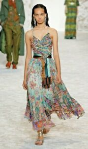 AUTH ETRO RUNWAY long floral maxi silk dress - cocktail formal gown, NEW!