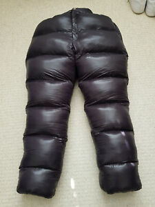 Shiny Glossy Nylon Wetlook Winter Trousers Down Pants Unisex Overfill Glanznylon