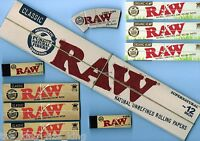 "RAW 12"" Rolling Papers + Raw Organic King Size Rolling Papers + Tips + Cone Tips"