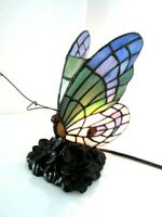 Tiffany Style Butterfly Table or Desk Lamp Night Light Lighting Stained Glass