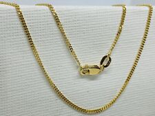 18ct Yellow Gold Solid Fine Chain Necklace Brand New - 1.5mm