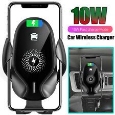 10W Gravity Qi Car Wireless Charger Pad Mount Holder for iPhone 11 Pro Xs Max XR