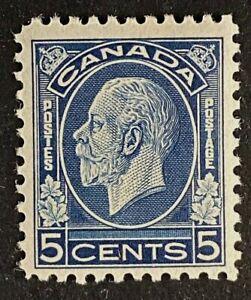 Canadian Stamp, Scott #199 King George V (1932) 5c dark blue VF M/H