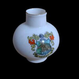 Crested China Arcadian Pot Upwey Crest Vintage