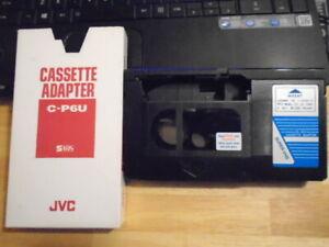 RARE Super VHS SVHS video cassette C-P6U Adapter JVC el-303 standard vcr Taiwan