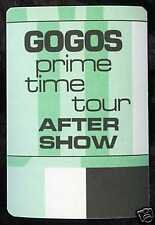 GOGOS 1984 Prime Time Concert Tour Backstage Pass!!! Authentic Original OTTO #1