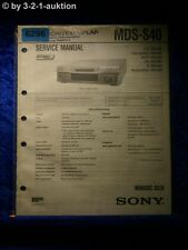 Sony Service Manual MDS S40 Mini Disc Deck (#6296)