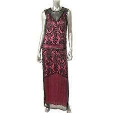 Juicy Couture Retro Style Black Lace Sleeveless Maxi Dress Sz.2 Ret.$398