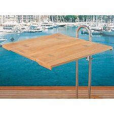 TABLE PLIANTE EN TECK MASSIF POUR COLONNE 70 X 64 CM ARC MARINE