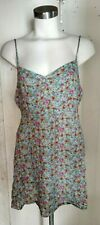 new  forever 21 woven dress light blue /cream  floral size  L