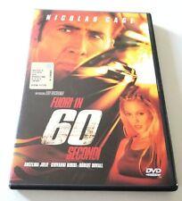 FUORI IN 60 SECONDI FILM DVD ITALIANO OTTIMO VENDITA SPED GRATIS SU + ACQUISTI
