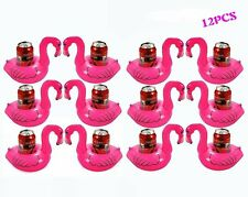 Inflatable Pool Flamingo Coasters Water Floating Drink Holder Party 12 pcs