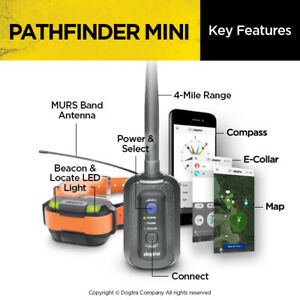 Dogtra Pathfinder MINI BUILT IN GPS E-Collar Dog Track & Train System- FAST SHIP