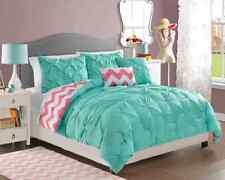 Full Size Bedding Sets Teens Kids Comforter Girls Turquoise Reversible Bedspread