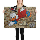 Scrooge Mcduck Swimming In Coins Art Picture Mike Mozart Mimo Poster Wall Art