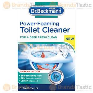 DR BECKMANN TOILET CLEANER POWER FOAMING ODOUR STAIN LIMESCALE REMOVER LEMON