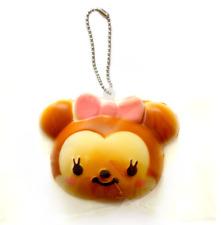 DISNEY Tsum Tsum MINNIE MOUSE Bun Cute Kawaii Squishy Toy Keychain Rare Squishy