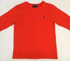 Polo Ralph Lauren Boys Cotton Jersey Crewneck Tee Long Sleeve Orange Size 7 NWT