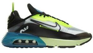 Men's Nike Air Max 2090 Running Shoes, BV9977 101 Multi Sizes White/Black/Volt/