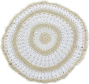 "100% COTTON CROCHET LACE WHITE CREAM HANDMADE TABLE MATS DOILY 12"" £3.99 EACH"
